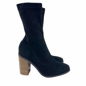 Sol Sana Chloe Black Suede Sock Boots